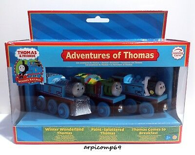 Wooden Railway Adventures Of Thomas 3 Trains Set Brio Elc Thomas And Friends