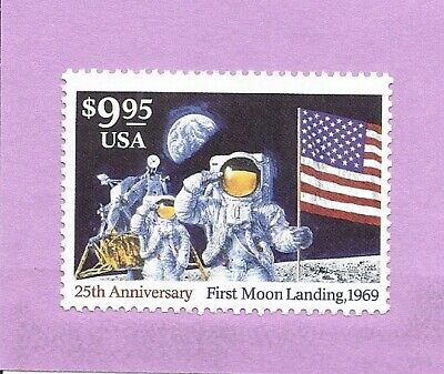 25th Anniversary, Moon Landing.Mint.01/$9.95.MNH/OG/FV.Scott 2842