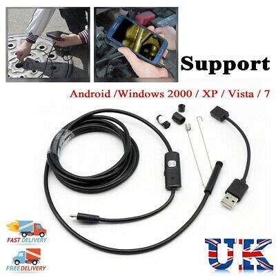 Endoscope 6 LED IP67 Android Camera Video Inspection Borescope HD FOR SAMSUNG UK