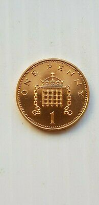 Gb 1988 Unc-Portcullis With Chain 1P One Pence Coin~Uncirculate Condition