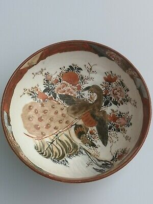 Antique HAND PAINTED JAPANESE PORCELAIN IMARI Bowl Dish