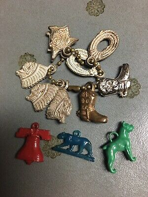 Vtg Gumball Charm Lot Vending machine toy Cracker Jack bubblegum prize