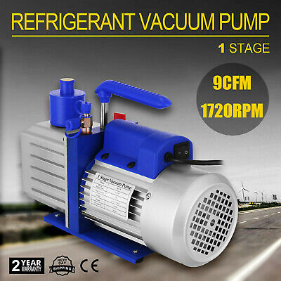 9CFM Single Stage Vacuum Pump 1HP Air Conditioning 25 microns R22 R410a printing