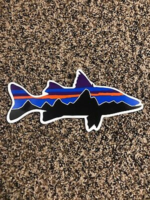 """75c8746a Patagonia Sticker Decal! Fitz Roy Fitzroy Fish Approx 8""""!! Authentic Outdoor"""