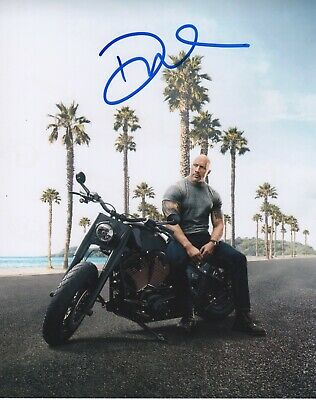 The Rock Dwayne Johnson Fast and Furious Hobbs Signed autographed  8x10 photo