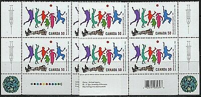 #2120 * 2 Inscription Blocks * MNH * Polio Vaccination *
