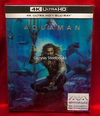 Aquaman - 4K UHD & Blu-ray Steelbook  Lenticular Edition * Region Free NEW *