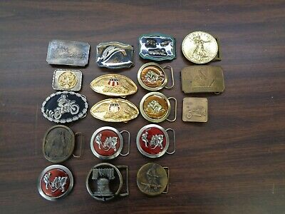 misc lot of vintage belt buckles