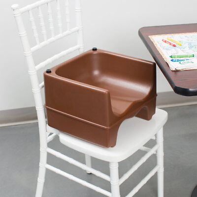 BROWN Dual Height Plastic NSF Stackable Restaurant Child Booster Chair Seat