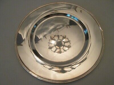 SERVING PLATE! Vintage GORHAM STERLING 925 silver CONCENTRIC RING pattern LOVELY