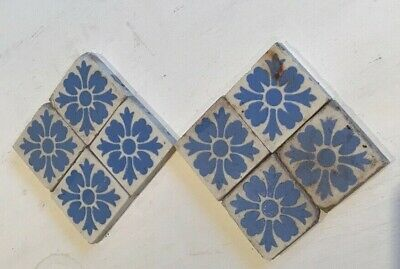 8 Early Victorian T&R Boote Berslam Staffordshire >1850 Floor/Wall/Hearth Tiles