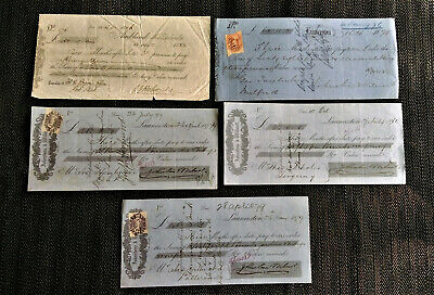 19th Century New Zealand cheques-Rare