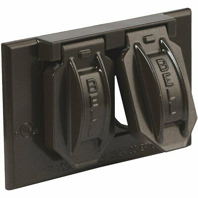 Bell BRONZE Horizontal Mount Weatherproof Outdoor Outlet Cover - 5180-2 / 536024