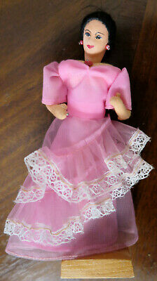 Vintage Pink & White Lace Spanish Mexican Doll Flamingo Dancer Philippines