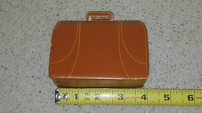 Hand Made Vintage Miniature Leather First Aid Doctors Bag