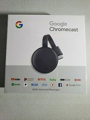 Google Chromecast 3rd Generation Digital HDMI Media Streaming Device