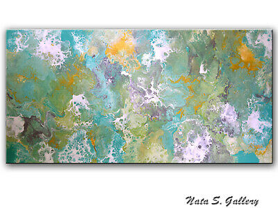 Abstract Painting, Acrylic Fluid Painting, Modern Wall Art, Large Art by Nata S.