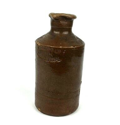 Vintage Angus & Co Ink Commercial Bottle