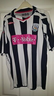 Mens Football Shirt - West Bromwich Albion - Home 2007-08 - Umbro - Size XL