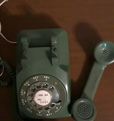 Vintage Green Western Electric Bell System Rotary Dial Desk Phone 500DR 10-75