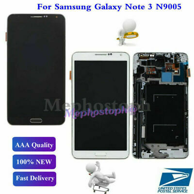 For Samsung Galaxy Note 3 N9005 LCD Display Screen Digitizer Replacement + Frame