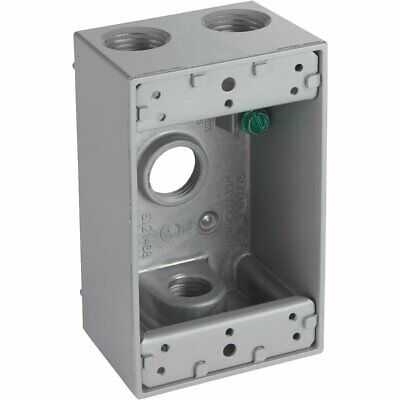 Bell GRAY Weatherproof Electrical Outdoor Outlet Box - 5321-0 / 528188