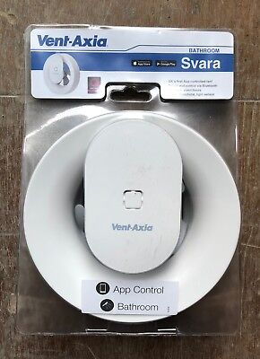 Vent Axia Svara 4w Lo Carbon App Controlled Extraction Fan Brand New Sealed