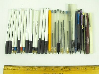 29 Vintage Bic Pens USA Classic, Round Stic, Metal Point, 2 Pencils and More