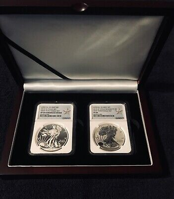 2013-W Silver Eagle West Point Set - Reverse & Enhanced Proof NGC69
