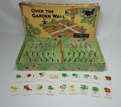 RARE Vintage The Game of Over the Garden Wall Parker Brothers Board Game 1940s