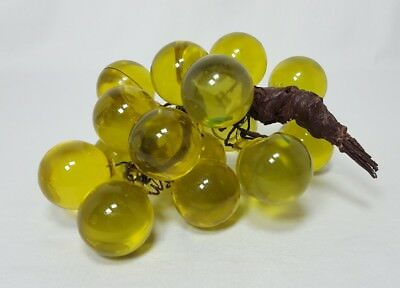 Vintage Lucite Acrylic Grapes Cluster Green Decor Mid Century Modern