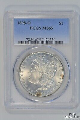1898-O Morgan Silver $1 Dollar Coin Early US Silver Coins PCGS MS65 15441