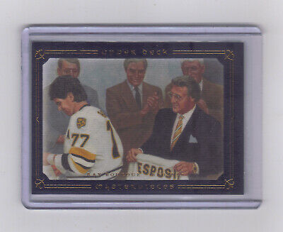 2008-09 UD Masterpieces Blue #14 Ray Bourque 47/50 BOSTON BRUINS