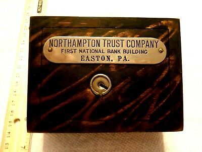 Vintage W F Burns Co Coin Bank Northhampton Tr Co Easton Pa First Natl Bk Bldg