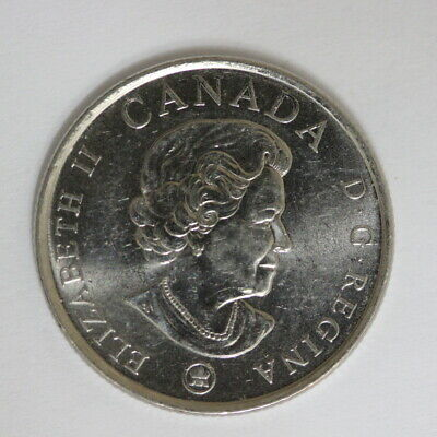 Canada 25 Cents Coin Remembrance Day Poppy. 2008 Colored (AB1)