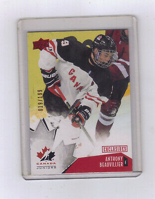 2015-16 Upper Deck Team Canada Juniors Exclusives Red #74 Anthony Beauvillier