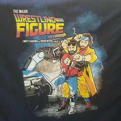 The Major Wrestling Figure Podcast T-Shirt XL New Curt Hawkins/ Zach Ryder WWE!