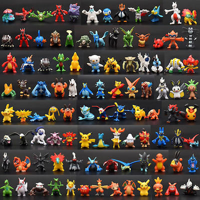 24Pcs Pokemon Toy Set Mini Action Figures Pikachu Detective Monster Gift Decor