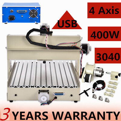 4 Axis Usb 3040 Cnc Router Engraver Engraving Drilling Desktop Cutting Sale