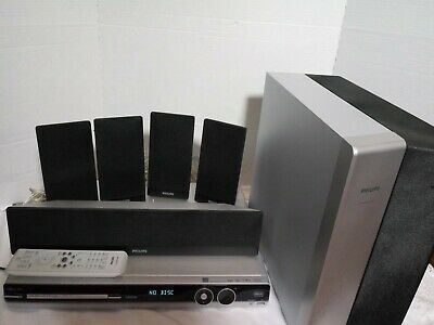Phillips HTS3544 DVD Player Home Theater Surround Sound Receiver Speakers Remote