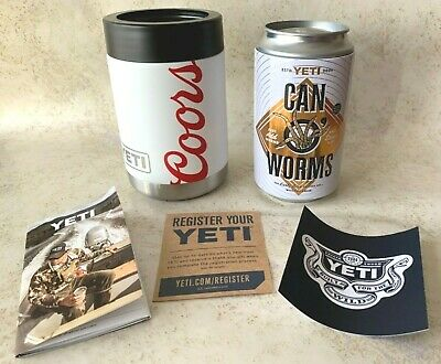 Yeti Coors Light Beer Colster Rambler Can of Worms New