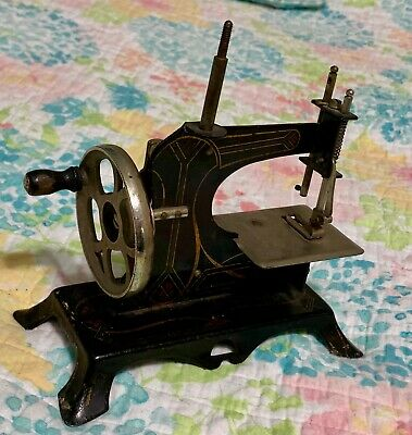 Vintage Children's Hand Crank Sewing Machine Made in Germany