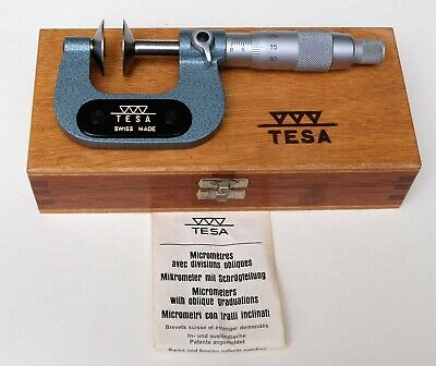 Tesa 0-25mm Disc (Flange) Outside Micrometer, Barely Used, Mint Condition