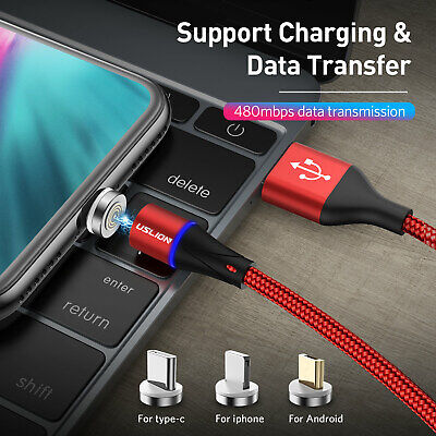 Magnetic Micro USB/ Type-C Data Fast Charger Charging Cable For iphone/Android