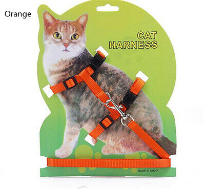 Cat Harness and Leash Pets Puppy Kitten Clothes Adjustable Comfortable orange
