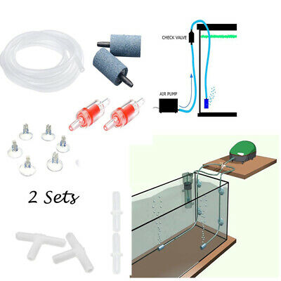 Aquarium Air Pump Accessories Kit, Air Stone Check Valve and Tube Connectors