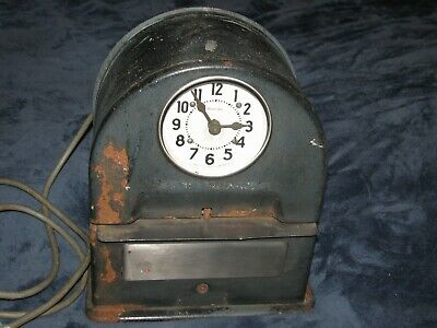 Vintage Simplex time clock, working
