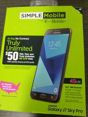 Samsung SMSAS737TG3P5P Galaxy J7 Sky Pro - 16GB - (Simple Mobile)