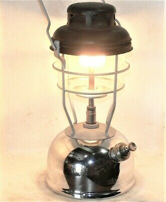 Tilley X246B kerosene pressure lantern, clean, new seals, burns good, UK 3/75.