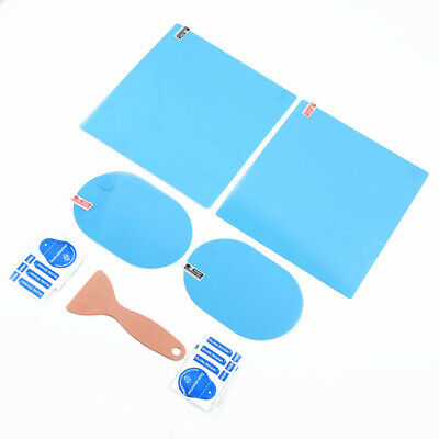 4Pc Car Auto Anti Fog Rainproof Rearview Mirror Window Protective Film Accessory